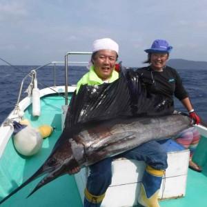 謹賀新年 初釣りは大興奮、50kgオーバーのセイルゲット。 の画像